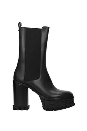 Versace Ankle boots Women Leather Black