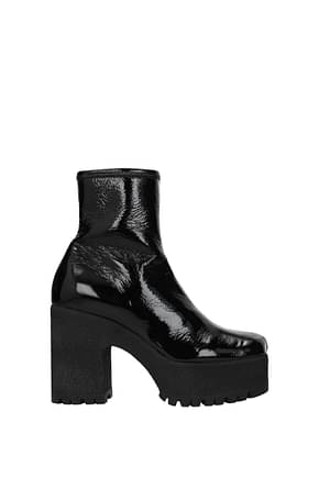 Miu Miu Ankle boots Women Patent Leather Black