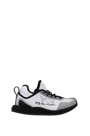 Y3 Yamamoto Sneakers adidas runner Herren Stoff Weiß Schwarz