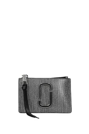 Marc Jacobs Document holders Women Leather Silver