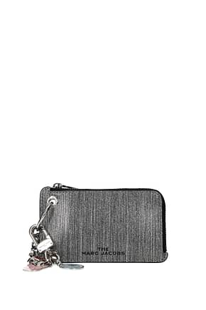 Marc Jacobs Coin Purses Women Leather Silver