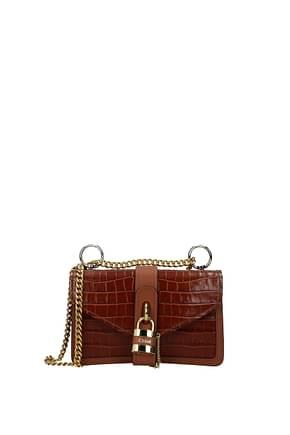 Chloé Shoulder bags Women Leather Brown Chestnut