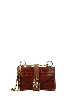 Chloé Shoulder bags Women Leather Brown Chestnut