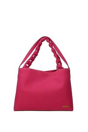 Jacquemus Bolsos de hombro Mujer Gamuza Rosa