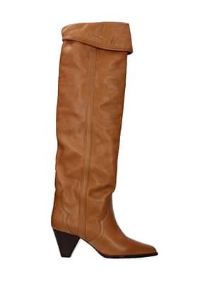 Isabel Marant Boots Women Leather Brown Cognac