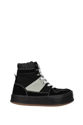 Palm Angels Sneakers Men Fabric  Black