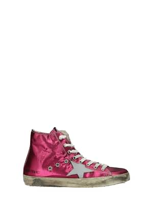 Golden Goose Sneakers francy Women Fabric  Fuchsia Silver
