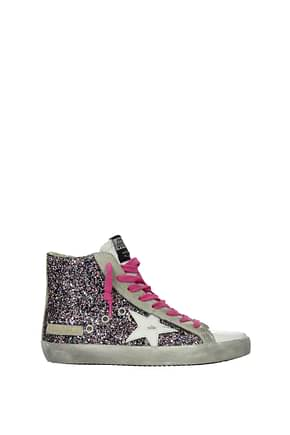 Golden Goose Sneakers francy Women Glitter Pink Grey