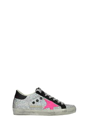 Golden Goose Sneakers superstar Women Glitter Silver Fuchsia