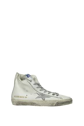 Golden Goose Sneakers francy Women Leather White Silver