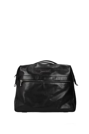 Alexander McQueen Handbags messenger Men Leather Black