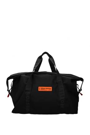 Heron Preston Travel Bags Men Fabric  Black