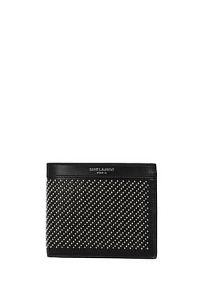 Saint Laurent Wallets Men Leather Black