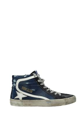 Golden Goose Sneakers slide Women Fabric  Blue