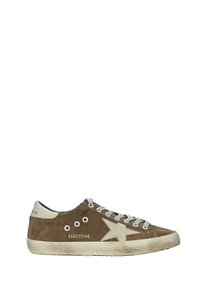 Golden Goose Sneakers superstar Men Suede Brown Cream