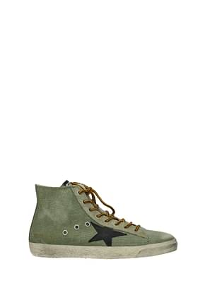Golden Goose Sneakers francy Men Fabric  Green Black