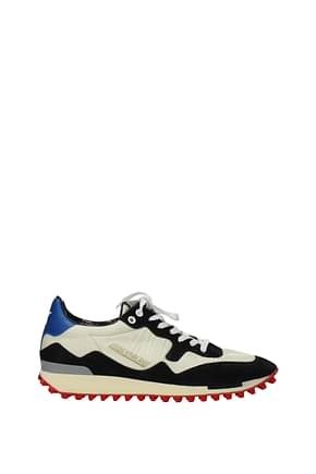 Golden Goose Sneakers starland Men Fabric  Beige Black