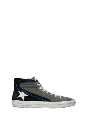 Golden Goose Sneakers slide Men Suede Gray White