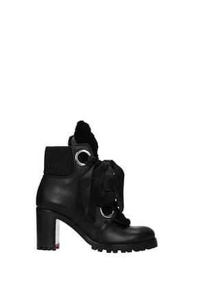 Louboutin Ankle boots jenny Women Leather Black