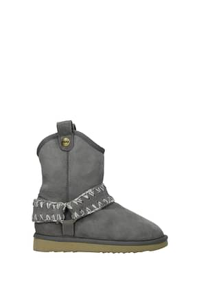 Mou Ankle boots Women Suede Gray Grey
