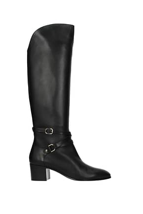 Jimmy Choo Boots huxlie Women Leather Black
