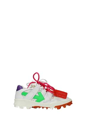 Off-White Sneakers mountain cleats Femme Cuir Blanc Violet