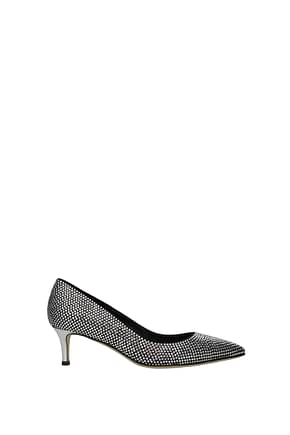 Giuseppe Zanotti Pumps formal Women Crystal Silver Black