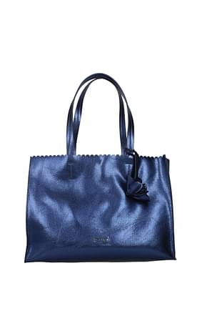 Pollini Shoulder bags Women Polyurethane Blue Midnight Blue