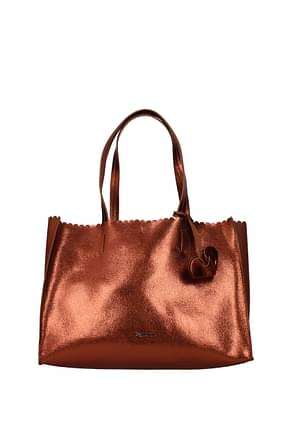 Pollini Shoulder bags Women Polyurethane Brown Leather