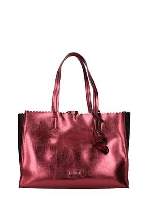 Pollini Shoulder bags Women Polyurethane Pink Bordeaux