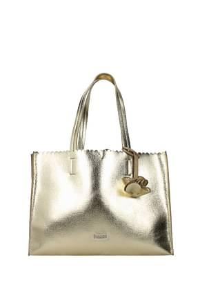 Pollini Shoulder bags Women Polyurethane Gold Beige