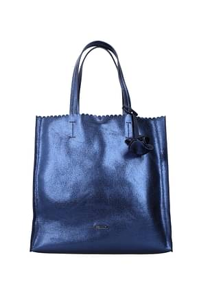 Pollini Borse a Spalla Donna Poliuretano Blu Blu Notte
