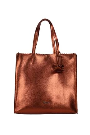 Pollini Shoulder bags Women Polyurethane Brown Leather