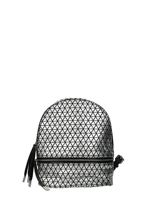 Pollini Backpacks and bumbags Women Polyurethane Silver