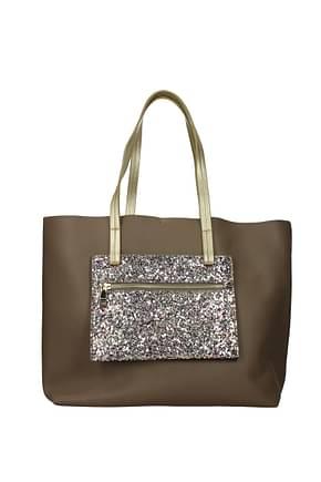 Pollini Shoulder bags Women Polyurethane Brown Gold