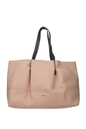 Pollini Shoulder bags Women Polyurethane Pink Grey