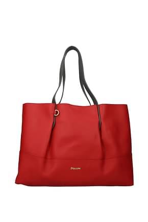 Pollini Shoulder bags Women Polyurethane Red Grey