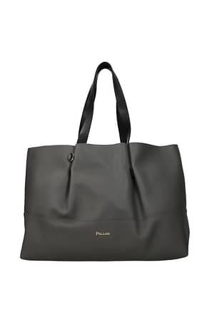 Pollini Shoulder bags Women Polyurethane Gray Black