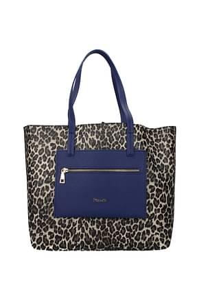 Pollini Shoulder bags Women Polyurethane Beige Blue