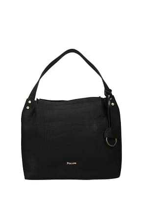 Pollini Shoulder bags Women Polyurethane Black