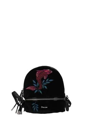 Pollini Backpacks and bumbags Women Velvet Black