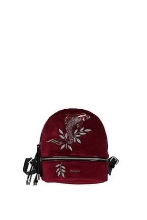 Pollini Backpacks and bumbags Women Velvet Red Bordeaux