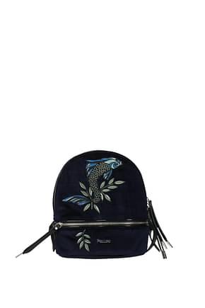Pollini Backpacks and bumbags Women Velvet Blue Blue Navy