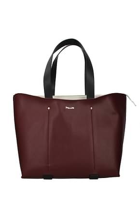 Pollini Shoulder bags Women Polyurethane Red White