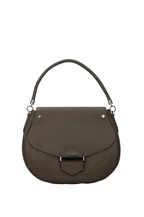 Pollini Handbags Women Polyurethane Gray Turtledove