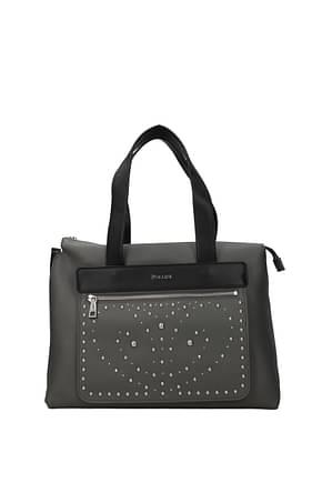 Pollini Handbags Women Polyurethane Gray Black