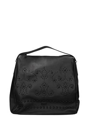 Pollini Handbags Women Leather Black