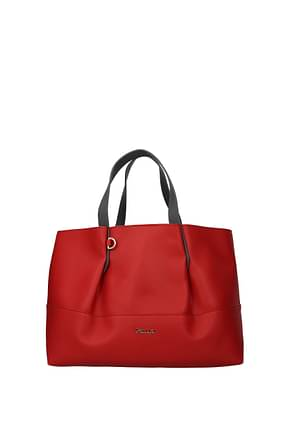 Pollini Handbags Women Polyurethane Red Grey