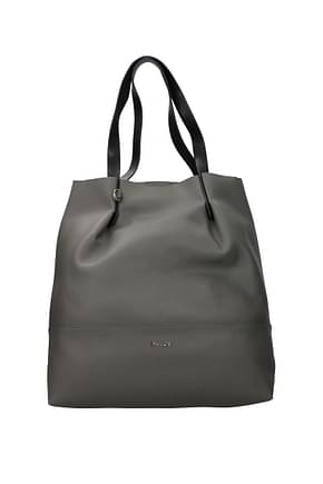 Pollini Shoulder bags Women Polyurethane Gray Pearl Grey
