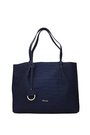 Pollini Shoulder bags Women Polyurethane Blue Copper